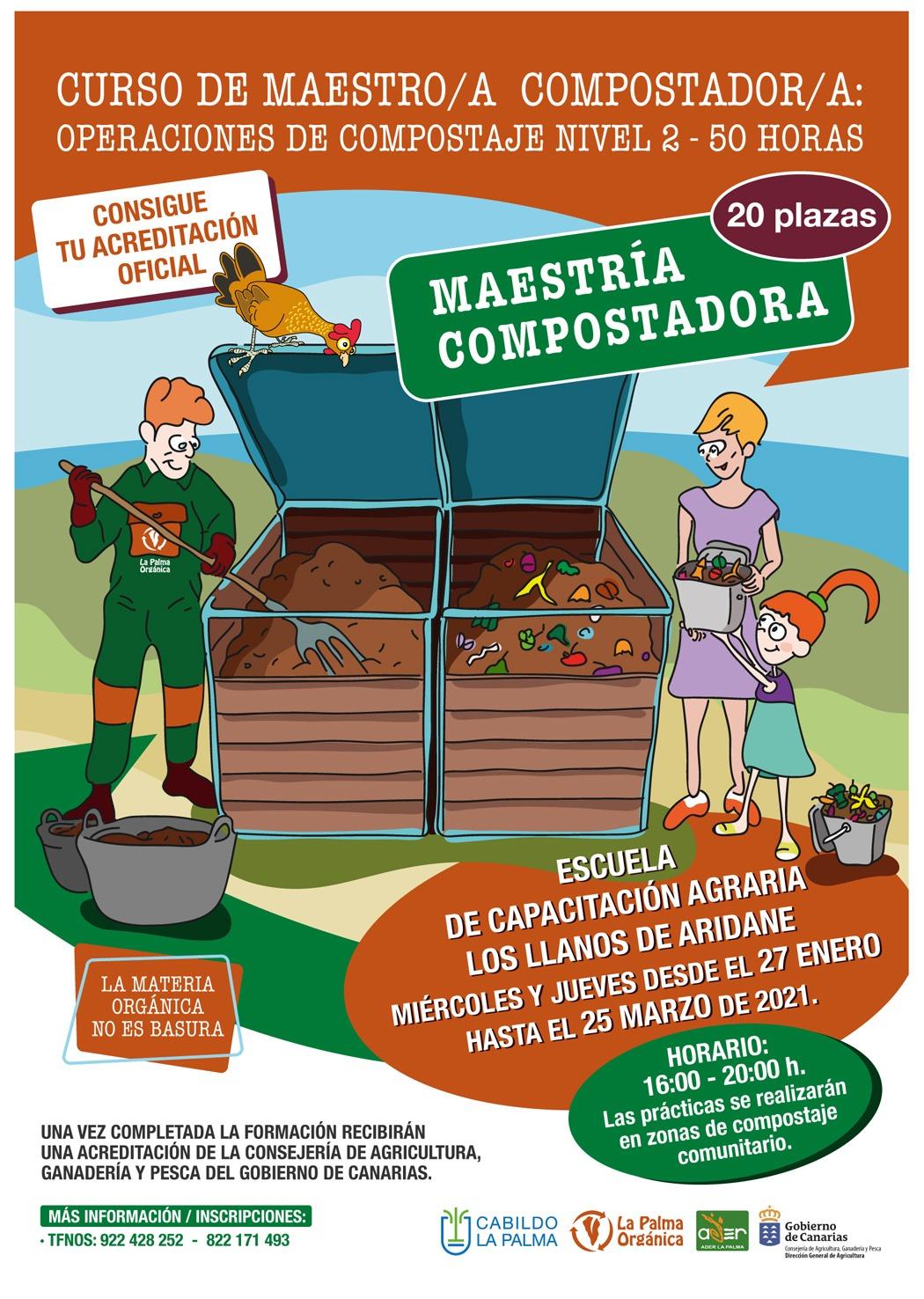 Curso gratutito de Maestría compostadora, operaciones de compostaje Nivel 2 y con reconocimiento oficial